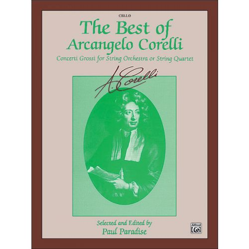 ALFRED PUBLISHING BEST OF CORELLI - CELLO