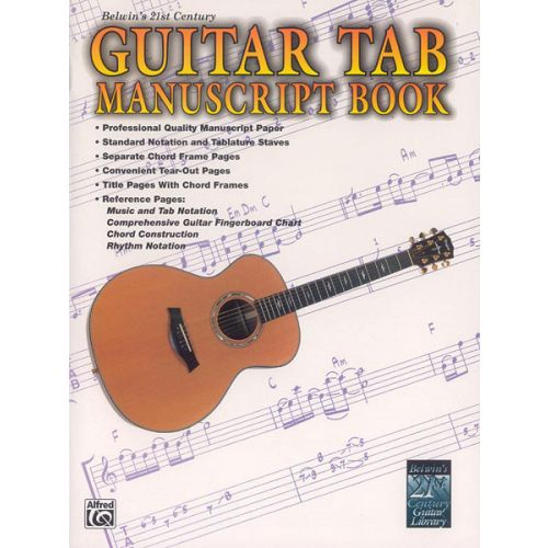 ALFRED PUBLISHING STANG AARON - 21ST CENTURY GUITAR TAB MANISCRIPT - GUITAR