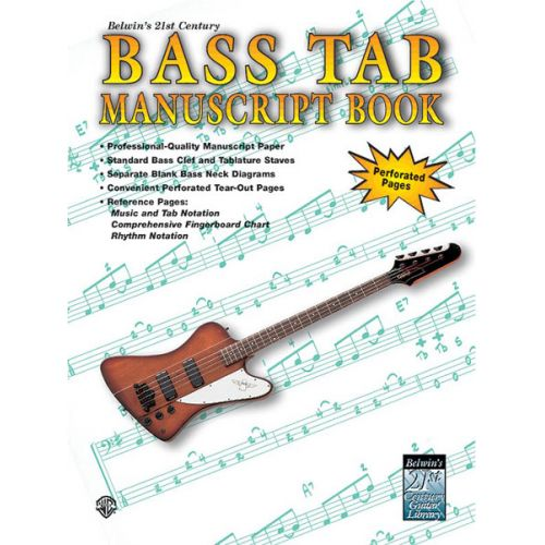 ALFRED PUBLISHING STANG AARON - 21ST CENTURY BASS TAB MANUSCRIPT - GUITAR