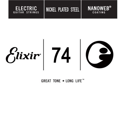 ELIXIR NANOWEB NICKEL PLATED STEEL 074 - 4 UNITS