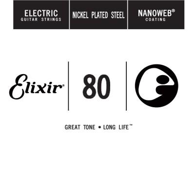ELIXIR NANOWEB NICKEL PLATED STEEL 080 - 4 UNITS