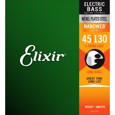 ELIXIR 5 STRINGS 45 65 85 105 130