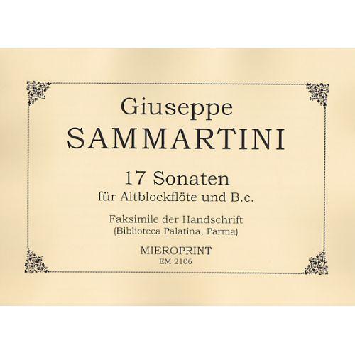 MIEROPRINT SAMMARTINI - 17 SONATEN FÜR ALTBLOCKFLÖTE UND B.C.