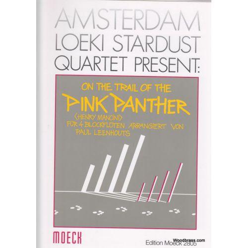 MOECK MANCINI H. ON THE TRAIL OF THE PINK PANTHER, FüR 4 BLOCKFLöTEN ARRANGIERT