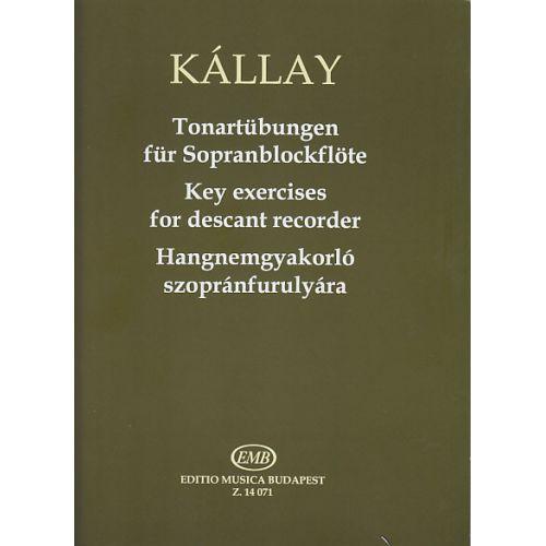 EMB (EDITIO MUSICA BUDAPEST) KALLAY G. - TONARTUBUNGEN FUR SOPRANBLOCKFLOTE