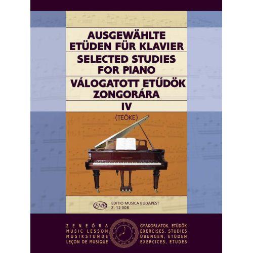 EMB (EDITIO MUSICA BUDAPEST) STUDI SCELTI VOL. 4 - PIANO