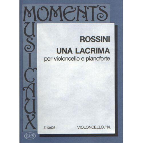 EMB (EDITIO MUSICA BUDAPEST) ROSSINI G. - LACRIMA - VIOLONCELLE ET PIANO