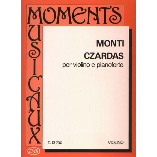 EMB (EDITIO MUSICA BUDAPEST) MONTI - CZARDAS - VIOLIN AND PIANO