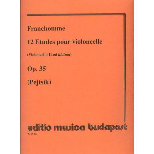 EMB (EDITIO MUSICA BUDAPEST) FRANCHOMME - 12 ETUDES OP.35 - VIOLONCELLE