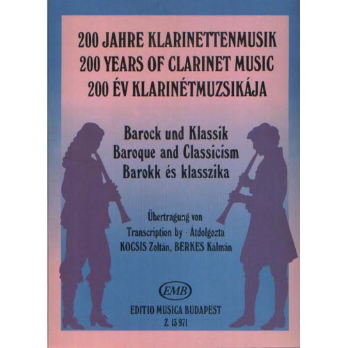EMB (EDITIO MUSICA BUDAPEST) BAROQUE AND CLASSICISM - CLARINETTE ET PIANO