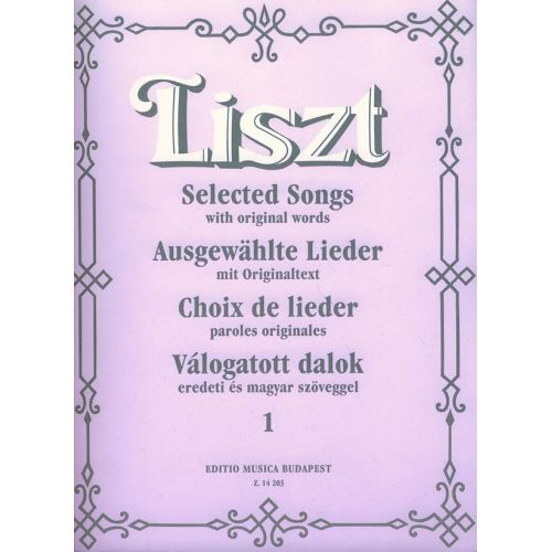 EMB (EDITIO MUSICA BUDAPEST) LISZT F. - SELECTED SONG VOL. 1 - HIGH VOICE