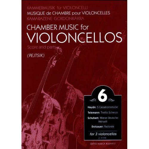 EMB (EDITIO MUSICA BUDAPEST) CHAMBER MUSIC VOL.6 - 3 VIOLONCELLOS