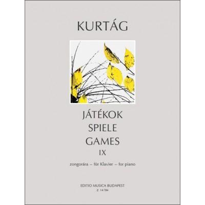 EMB (EDITIO MUSICA BUDAPEST) KURTAG G. - JATEKOK VOL. 9 - PIANO