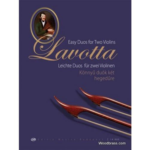 EMB (EDITIO MUSICA BUDAPEST) LAVOTTA JANOS - EASY DUOS FOR TWO VIOLINS
