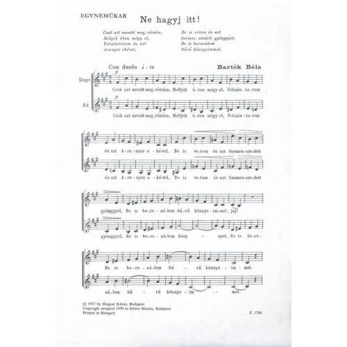 Emb Editio Musica Budapest Bartok Ne Hagyj Itt Equal Voices