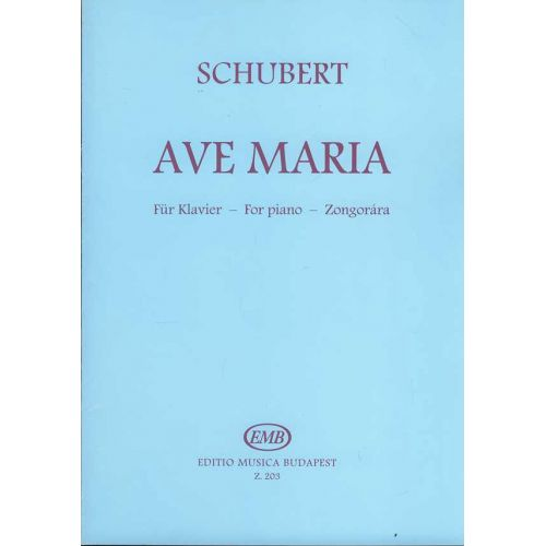 EMB (EDITIO MUSICA BUDAPEST) SCHUBERT - AVE MARIA OP.52.N 6 - PIANO SOLO