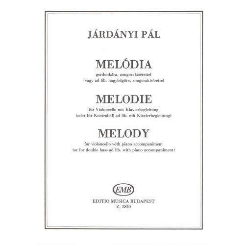 EMB (EDITIO MUSICA BUDAPEST) JARDANYI - MELODY - VIOLONCELLE ET PIANO