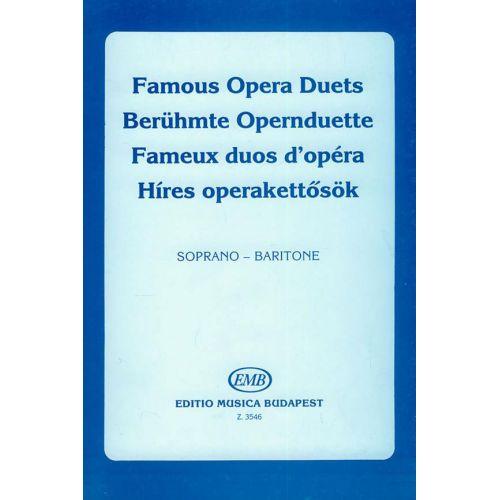 EMB (EDITIO MUSICA BUDAPEST) DUETTI D'OPERA - VOIX SOPRANO ET BARYTON