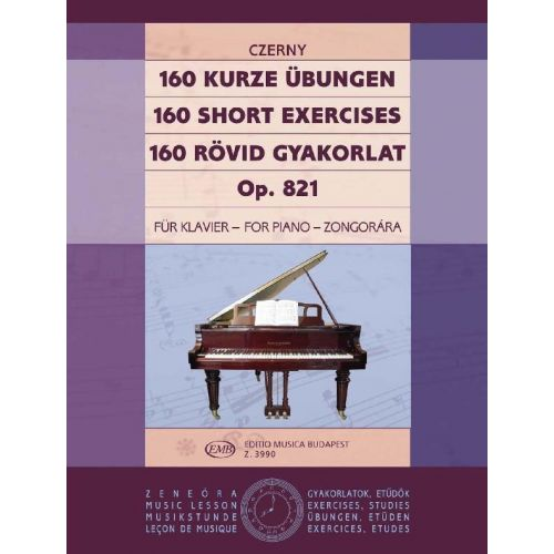 EMB (EDITIO MUSICA BUDAPEST) CZERNY - 160 SHORT EXERCISES OP.281 - PIANO SOLO