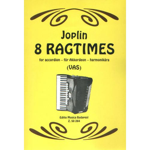 EMB (EDITIO MUSICA BUDAPEST) JOPLIN S. - RAGTIMES (EIGHT) - ACCORDEON