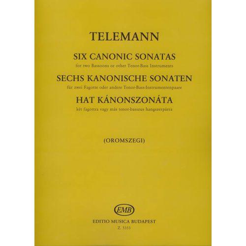 EMB (EDITIO MUSICA BUDAPEST) TELEMANN G.P. - SONATE CANONICHE (6) - BASSON