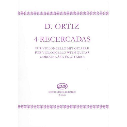 EMB (EDITIO MUSICA BUDAPEST) ORTIZ D. - RECERCADAS (4) - VIOLONCELLE ET GUITARE