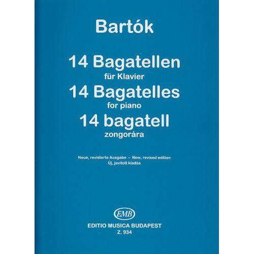 EMB (EDITIO MUSICA BUDAPEST) BARTOK B. - 14 BAGATELLES - PIANO