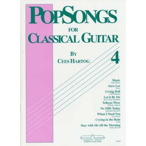 ALSBACH - EDUCA HARTOG C. - POP SONGS VOL.4 - GUITAR