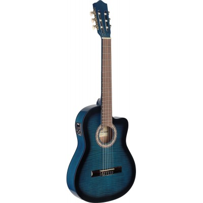 STAGG C546TCE-BLS C546TCE ACOUSTIC ELECTRIC CLASSICAL GUITAR BLUEBURST