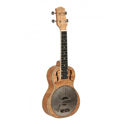 GOLD TONE RESOMAPLE CONCERT UKULELE WITH RESONATOR, CURLY MAPLE TOP, COVER INCLUDED