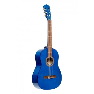 STAGG 3/4 CLASSICAL GUITAR WITH LINDEN TOP, BLUE