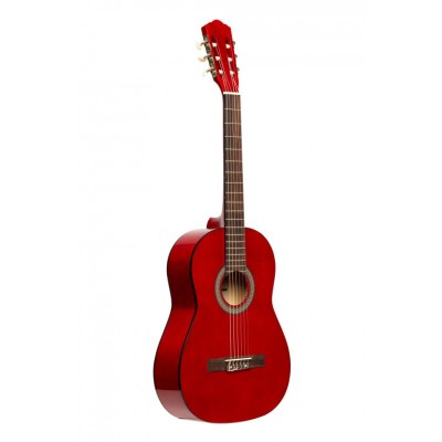 STAGG 4/4 CLASSICAL GUITAR WITH LINDEN TOP, RED
