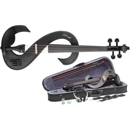 STAGG 4/4 ELECTRIC VIOLIN SET - BLACK TOP SELLER