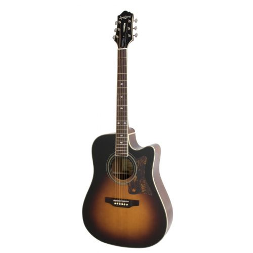 EPIPHONE ORIGINALS MASTERBILT DR-500MCE ACOUSTIC/ELECTRIC (SQUARE SHOULDER) VINTAGE SUNBURST