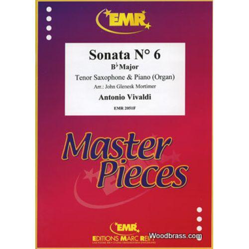 MARC REIFT VIVALDI ANTONIO - SONATA N°6 Bb MAJOR SAXOPHONE TENOR & PIANO