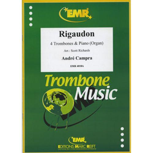 MARC REIFT CAMPRA ANDRE - RIGAUDON - 4 TROMBONES & PIANO