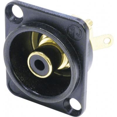 NEUTRIK PHONO AUDIO CONNECTORS (RCA) BLACK FRAME FORMAT D. BLACK INSULATION