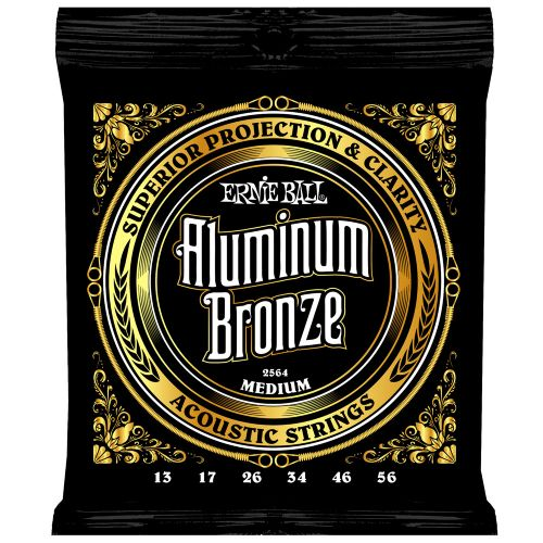 ERNIE BALL P02564 ALUMINUM BRONZE 13-56 MEDIUM