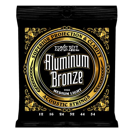 ERNIE BALL P02566 ALUMINUM BRONZE 12-54 MEDIUM LIGHT