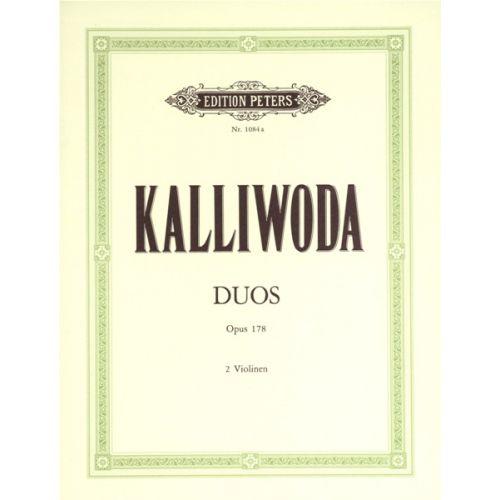 EDITION PETERS KALLIWODA J W - DUOS OP.178 - 2 VIOLINS