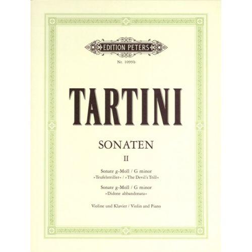 EDITION PETERS TARTINI GIUSEPPE - SONATAS VOL.2 - VIOLIN AND PIANO