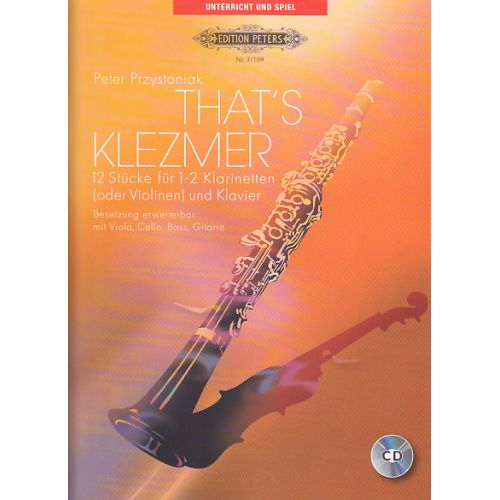 EDITION PETERS PRZYSTANIAK P. - THAT'S KLEZMER - 2 CLARINETTE (VIOLONS) ET PIANO