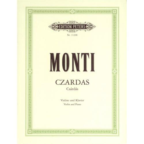 EDITION PETERS MONTI VITTORIO - CZARDAS - VIOLIN AND PIANO