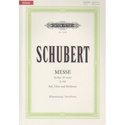 EDITION PETERS SCHUBERT F. - MESSE ES-DUR D950 - CHANT/PIANO (PER 10 MINIMUM)