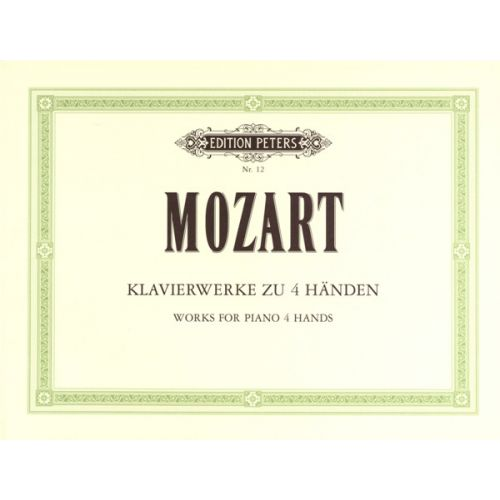 EDITION PETERS MOZART WOLFGANG AMADEUS - ORIGINAL COMPOSITIONS - PIANO 4 HANDS
