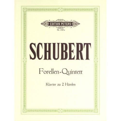 EDITION PETERS SCHUBERT FRANZ - TROUT QUINTET OP.114 - PIANO