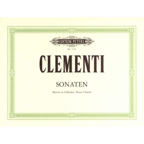 EDITION PETERS CLEMENTI MUZIO - 4 SONATAS - PIANO 4 HANDS
