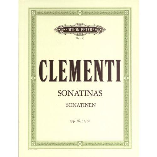 EDITION PETERS CLEMENTI MUZIO - SONATINAS OP. 36 NOS. 1-6; OP. 37 NOS. 1-3; OP. 38 NOS. 1-3 - PIANO