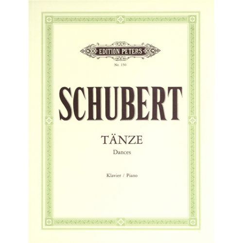 EDITION PETERS SCHUBERT FRANZ - DANCES D783 - PIANO