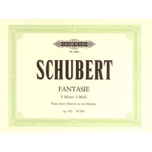 EDITION PETERS SCHUBERT FRANZ - FANTASIA IN F MINOR OP.103/D940 - PIANO 4 HANDS